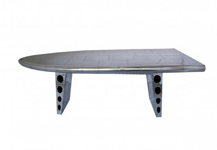 Klassischer Art Deco Retro Vintage Tisch Esstisch Aluminium