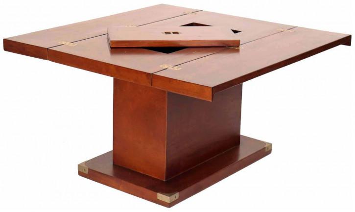 Klassischer Nussbaum Massivholz Sofatisch Kaffeetisch Holztisch Retro Vintage