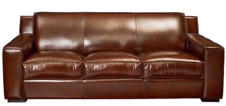 Echtleder Sofa 3 Sitzer klassisch Germain Retro Vintage Ledersofa