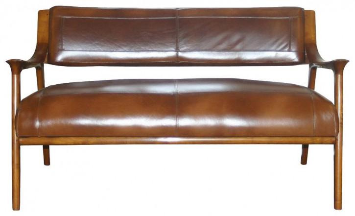 Echtleder Sofa 2 Sitzer klassisch Berfen Retro Vintage Ledersofa