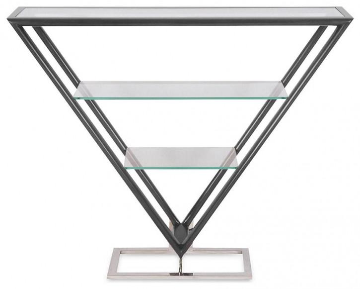 Delta Etagere Iso Inox Glas Schwarz