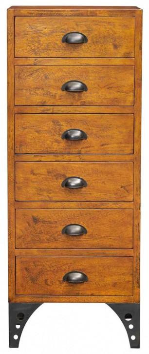 Schrank im Industiellem-Stil aus Holz - 6 Schubladen
