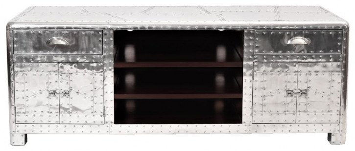 Inox DC3 TV-Sideboard Massivholz Retro Vintage Art Deco