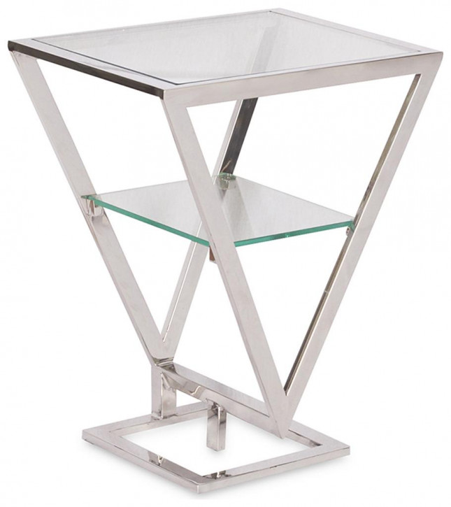 Delta Etagere Thalles Inox Glas Stahl