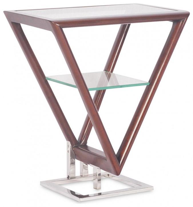 Delta Etagere Iso Inox Glas Stahl Holz Mahagoni