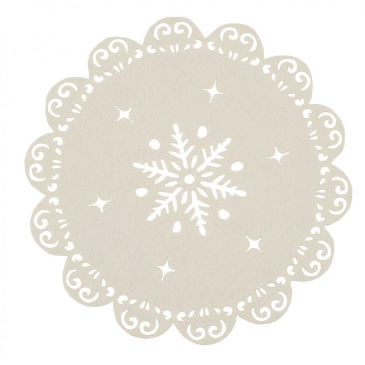 Rundes Tischset beige hell Ø35 cm