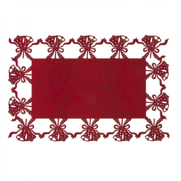 Schönes Tischset mit Glockenmuster rot