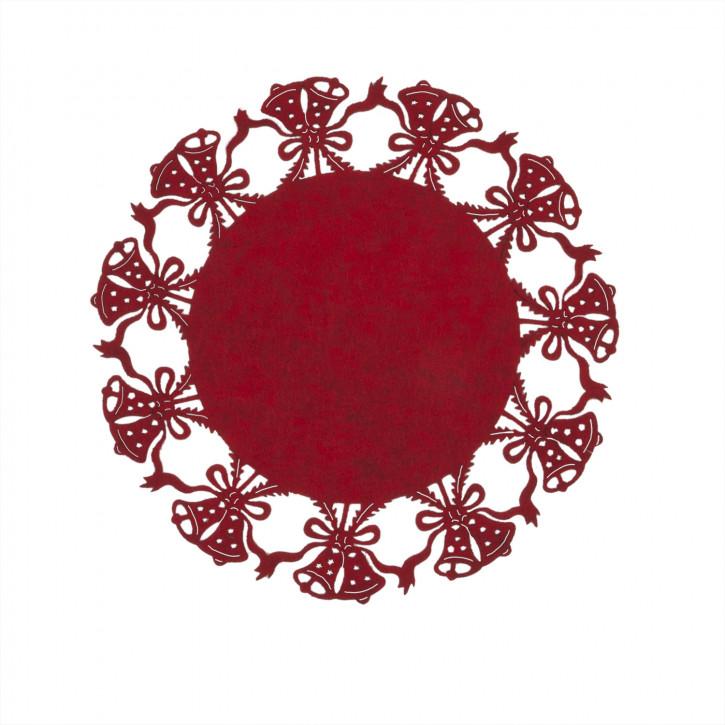 Placemat Ø 35 cm rood
