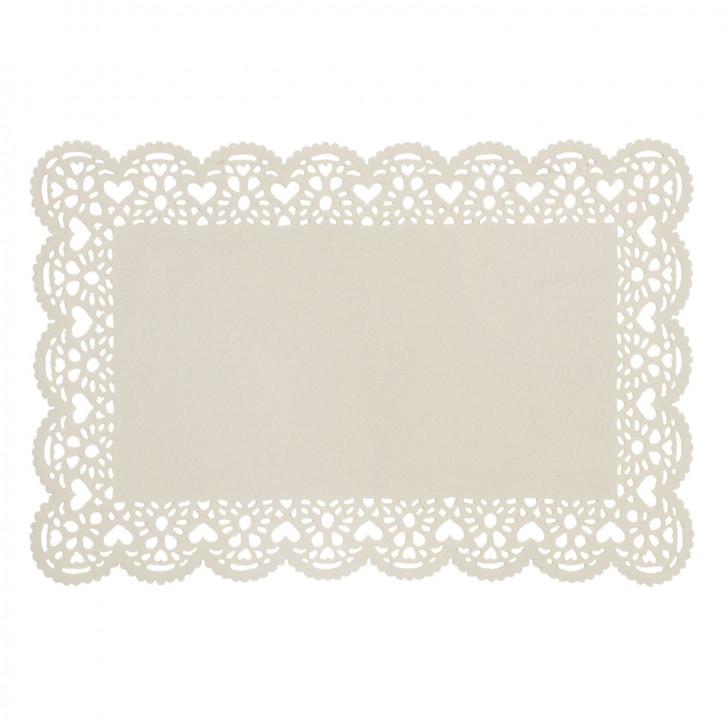 Tischset mit schönem Rand beige