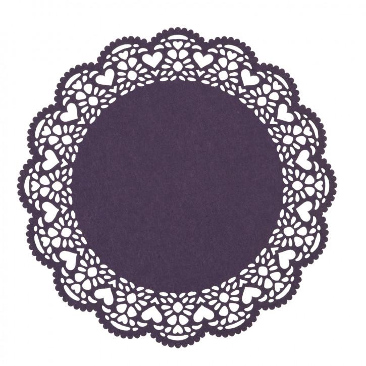 Rundes Tischset lila Ø35 cm