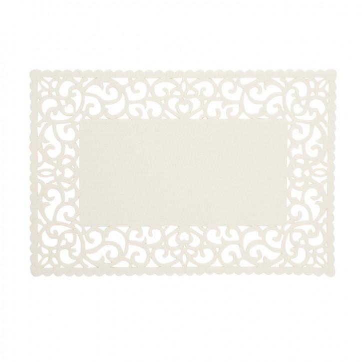 Tischset mit schönem Rand, eckig beige