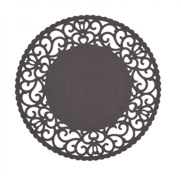 Rundes Tischset dunkelgrau Ø35 cm