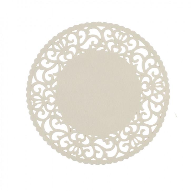 Rundes Tischset beige Ø35 cm