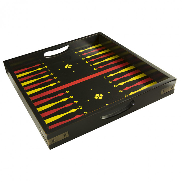 Servier-Tablett Backgammon Tray