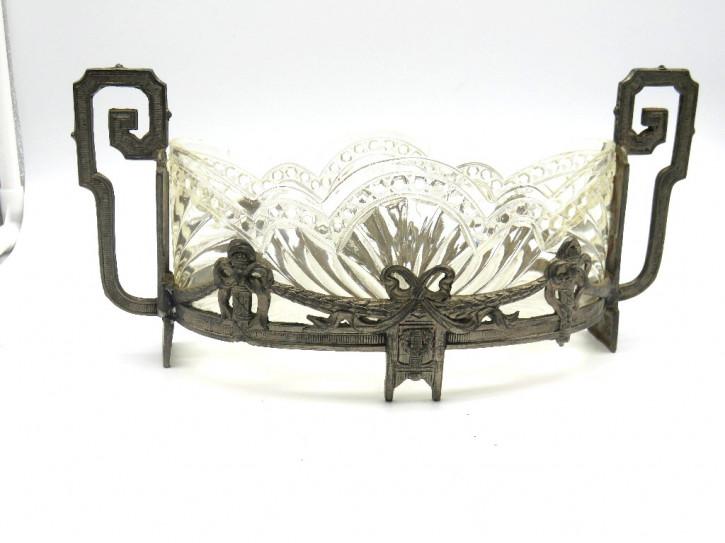Glaschale in  Plated Silberhaltung Victorian 1880