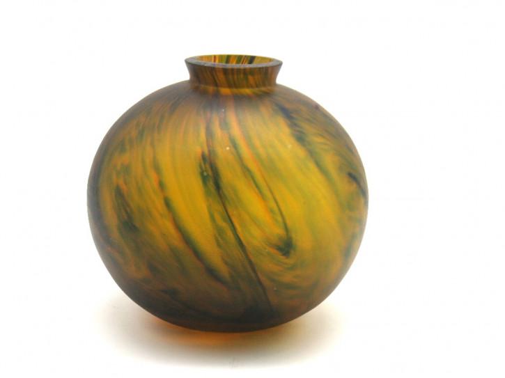 Kugel- Glasvase  Französich im stil von Daume