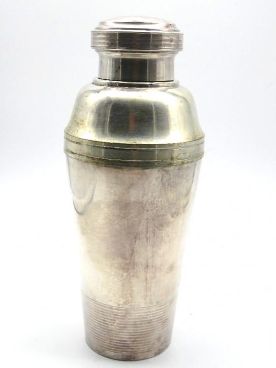 Shaker ( Plated Silber) mit Messbecher  Art Deco Original