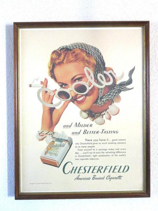 """Bild """"Chesterfield"""" (1von3)  Original Werbung 30er"""