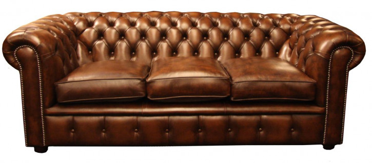 """Falmouth"" original Chesterfield 3-Sitzer"