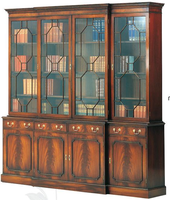 Bevan Funnell 4-Türiger Bücherschrank mit Schubladen