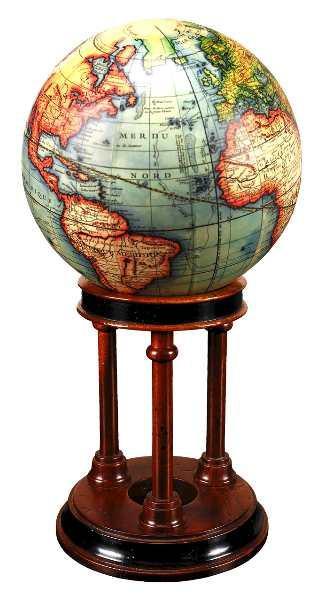 Mahagoni Globus Standfuß
