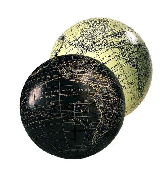 Globus - Vaugondy 12cm, elfenbein