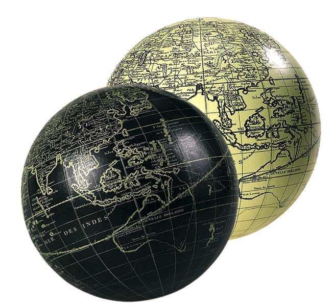 Globus - Vaugondy 14cm, elfenbein