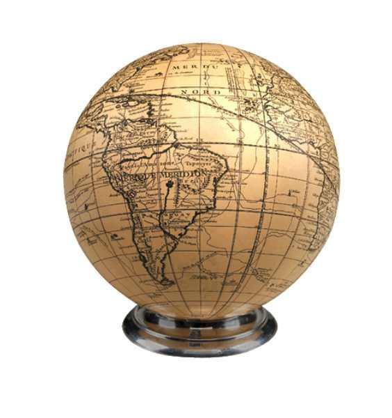 Globus Elfenbein Sphere on Aluminium Base