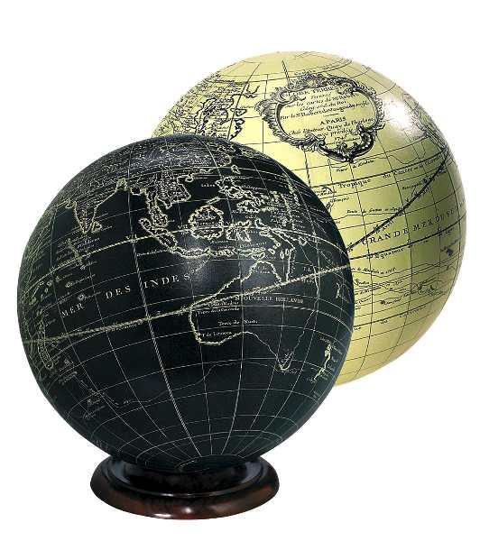 Globus - Vaugondy 18cm, elfenbein