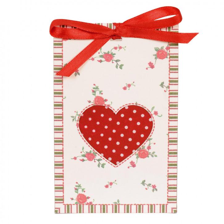 Duftsäckchen Herzchen-Geschenk-Verpackung 8x2x12,5cm