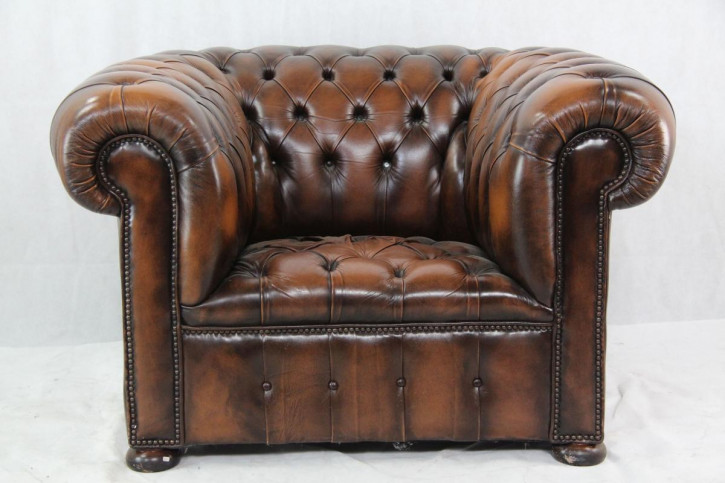 """Windsor Chair"" Chesterfield Ledersessel"