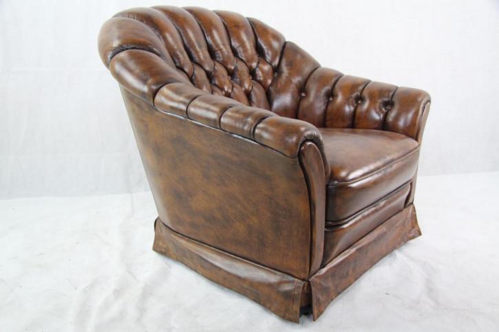 Vintage Chesterfield Ledersessel aus England