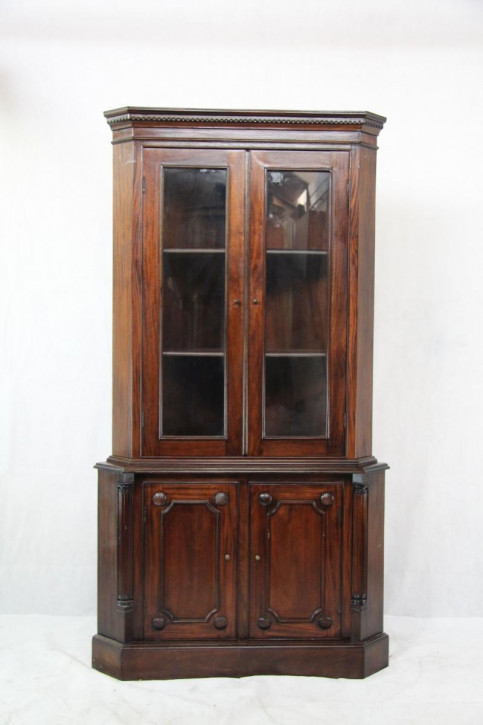 Mahagoni Eckschrank massiv Victorian