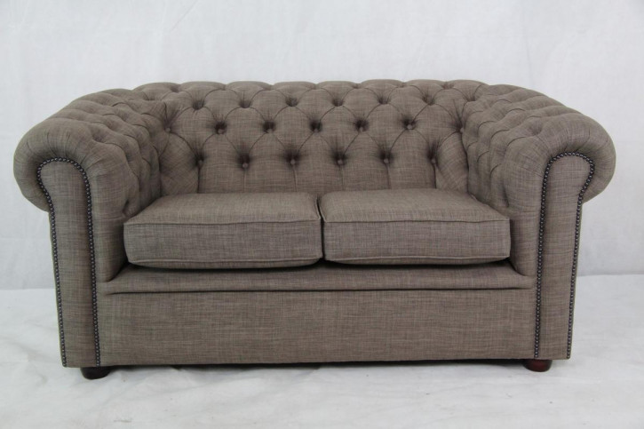 Chesterfield Stoff 2 Seater