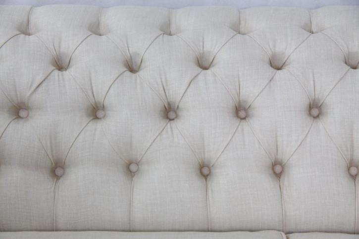 Chesterfield Stoff Sofa Original englisches Stoffsofa 3-Sitzer