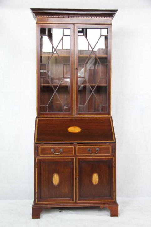 Bureau Bookcase Aufsatzsekretär Mahagoni handpolitur