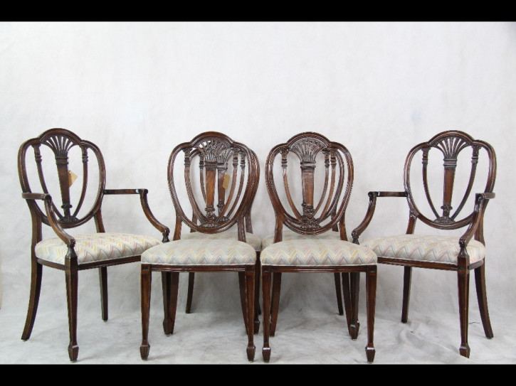 Georgian style Mahagoni Stühle Set of 6 Chairs, 2 Armchairs