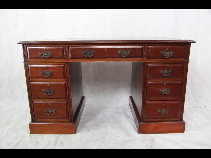 Viktorianischer Schreibtisch  Mahagoni 1860 Original