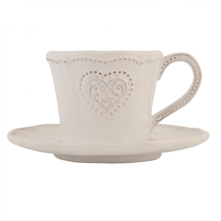 Tasse mit Untertasse Ø 15x8 cm