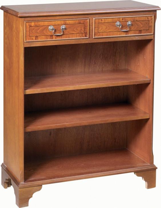 Offener Bücherschrank mit zwei Schubladen