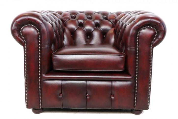 Chesterfield London Classic Sessel in Birch Antik Rot