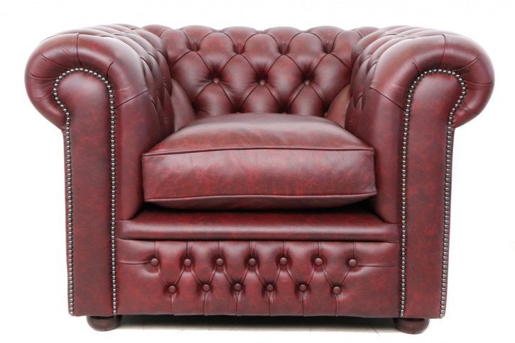 """Chesterfield Sessel """"Tudor"""" in Special Rot Sofort Lieferbar"""