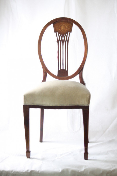 Stuhl Edwardian single chair Mahagoni 1890