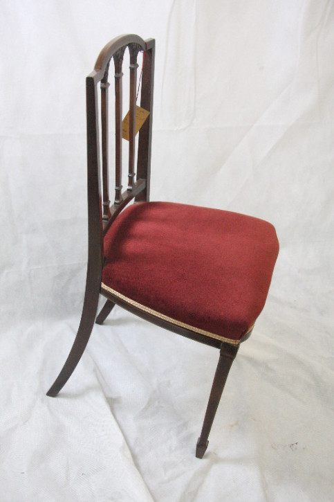 Single chair Mahagoni Stuhl Edwardian 1890