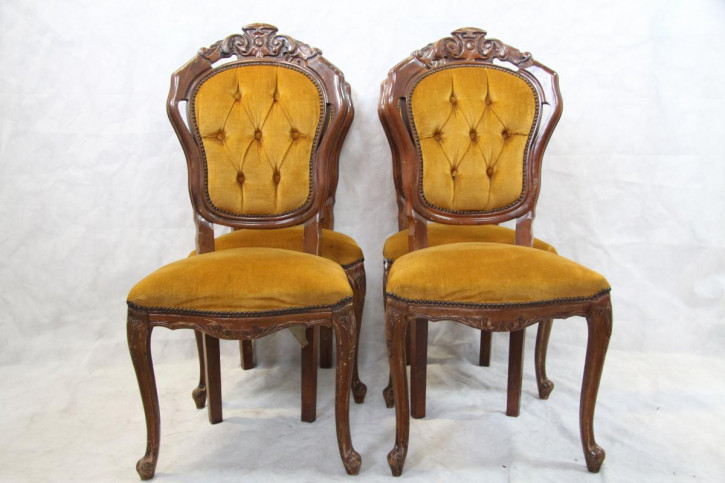 4er Satz Stühle Mahagoni klassische Queen Anne Style