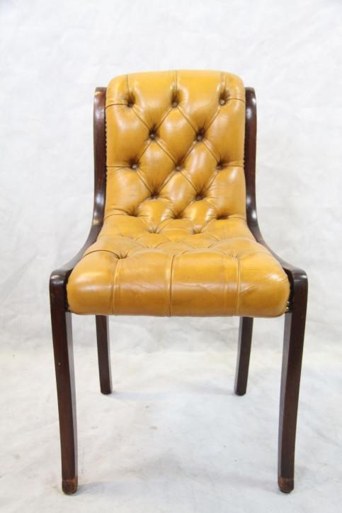 Mahagoni Regency 5er Satz Stühle Leder