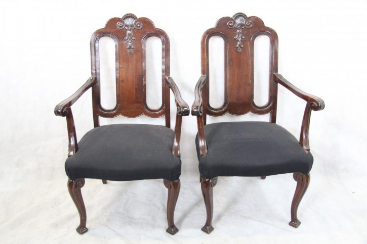 2 Armchairs  Sessel Viktorian Mahagonistühle