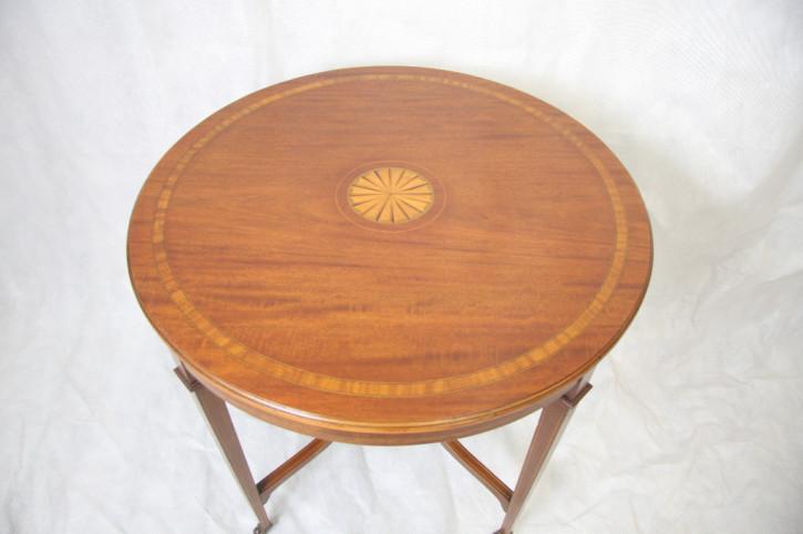 Mahagoni Occationstisch Runder Tisch Edwardian 1890