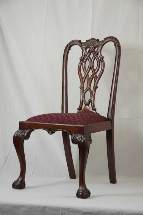 Dining Chair Chippendale Style Mahagoni