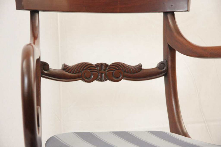 Scroll Chair Mahagoni